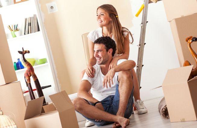 image of couple after moving