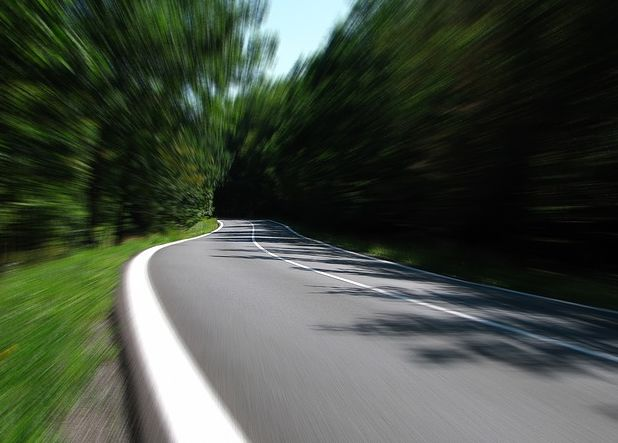 long distance moving image of road